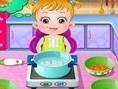 Baby Hazel in de Keuken