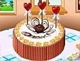 Dekoriere den Kuchen