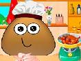 Pou Cooking lesson
