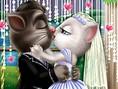 Tom and Angela Wedding Kiss